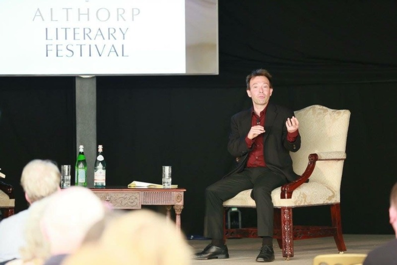 ed halliwell at althorp literary festival